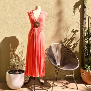 Sky Maxi Dress in Coral